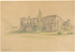 The Banqueting Hall of the Residency, Lucknow (U.P.). 23 February 1870